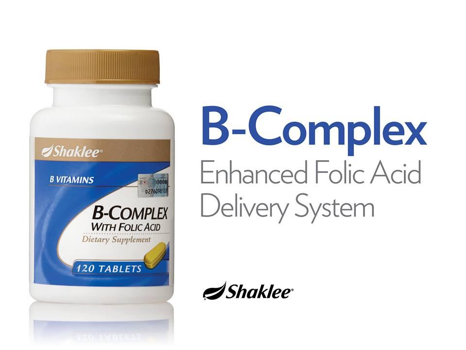B complex Shaklee 5 B-Complex,  Asid Folik Semulajadi B-Complex,  Asid Folik Semulajadi B complex Shaklee 5