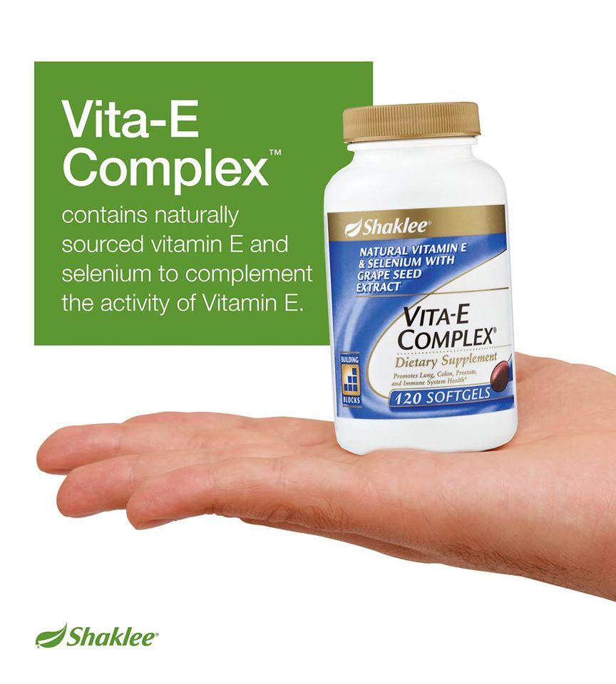Vitamin E Complex Shaklee 2 Vita-E Complex®, Antioksidan Organik dan Semulajadi Vita-E Complex®, Antioksidan Organik dan Semulajadi Vitamin E Complex Shaklee 2