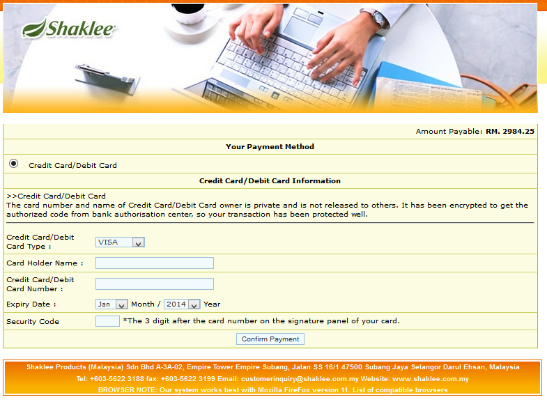Screenshot 2014-07-13 01.35.44 beli shaklee online Beli Shaklee Online dan Guna Credit Card / Debit Card Screenshot 2014 07 13 01