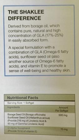 gla complex shaklee gamma linolenic acid