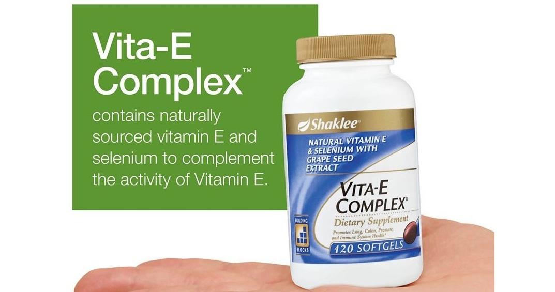 Vita-E Complex®, Antioksidan Organik dan Semulajadi