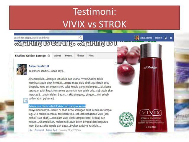 Mengawal Strok dengan Vivix Shaklee