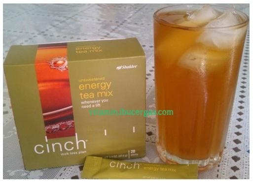 Set Kurus Shaklee Sangat Berbeza Dengan Cinch Energy Tea Mix