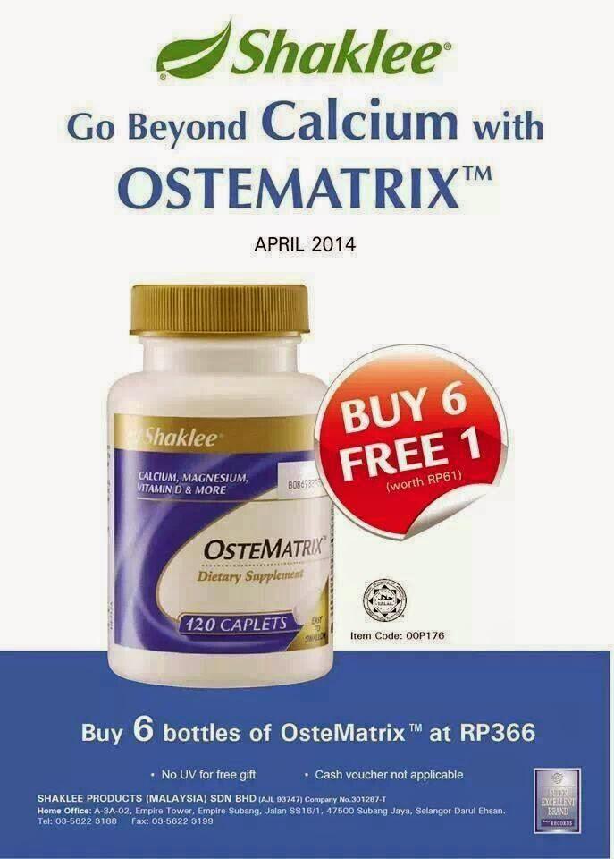 Ostematrix Shaklee Promosi April 2014 Beli 6 Percuma 1