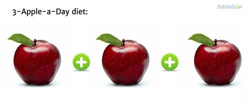 tips kuruskan badan dengan epal