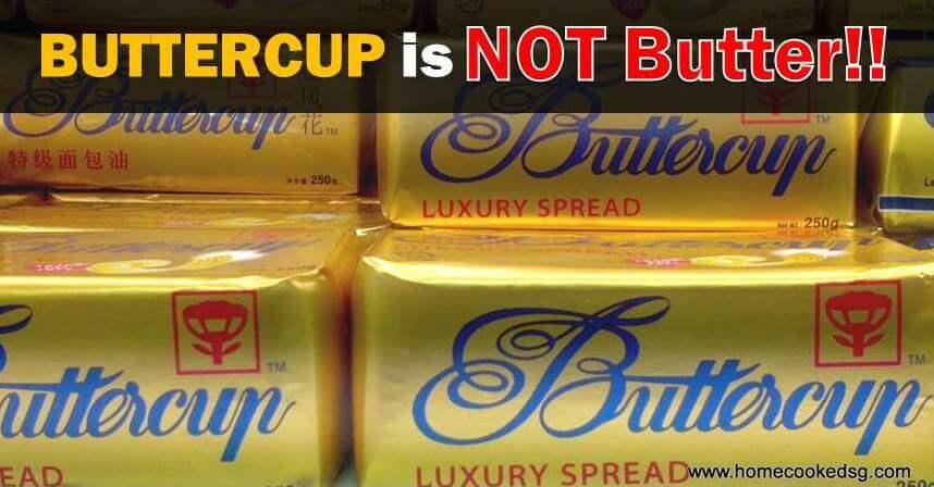 Buttercup Bukan Mentega – Beza Butter dan Sapuan Minyak Sawit