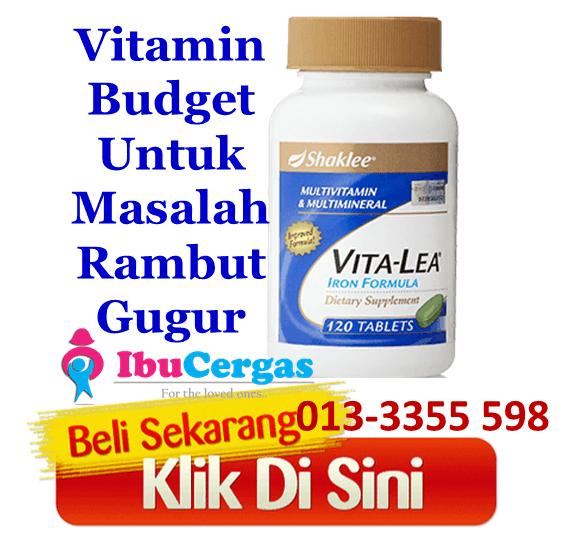 vitamin rambut gugur keguguran rambut lebatkan rambut