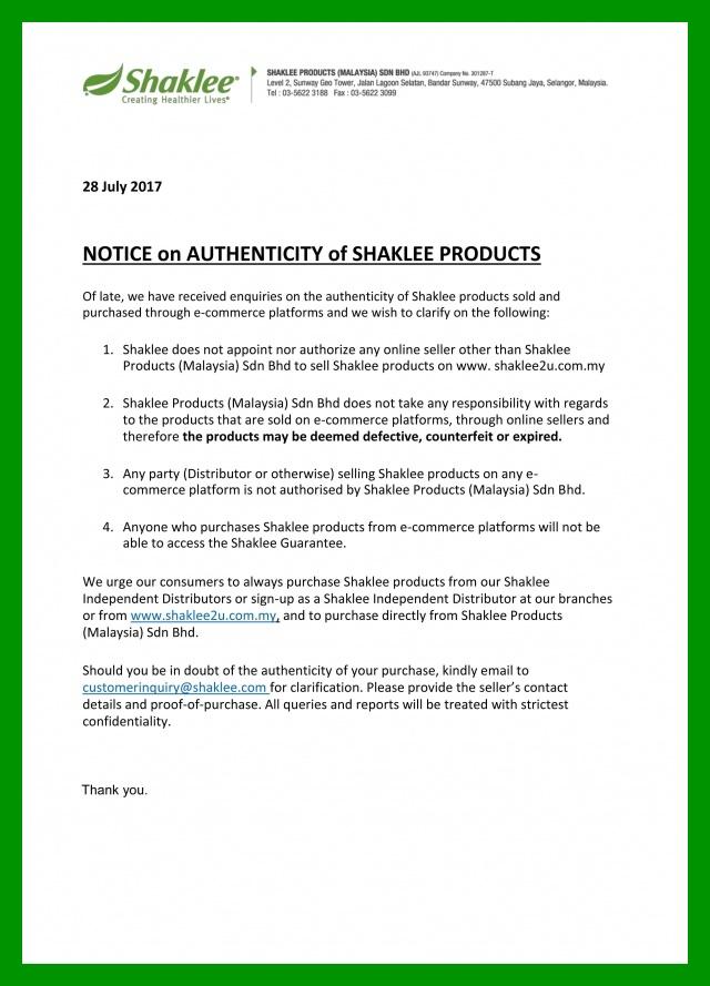Bahaya Beli Produk Shaklee