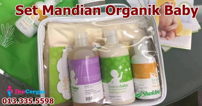 Sabun Set Mandian Baby Organik Jenama Shaklee