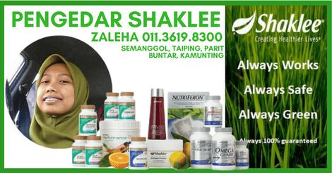 Ejen Shaklee Taiping | Pengedar Shaklee Taiping Perak – Zaleha