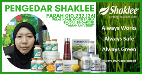 Pengedar Vivix Shaklee Taman Pulai | Pengedar Shaklee Johor Bahru