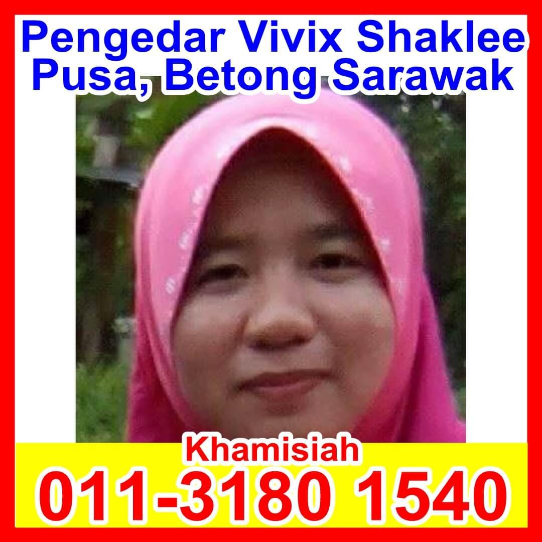 Pengedar Vivix Shaklee, Pengedar Shaklee Sarawak, Pengedar Shaklee Pusa Sarawak, Pengedar Shaklee Betong Sarawak Khamisiah