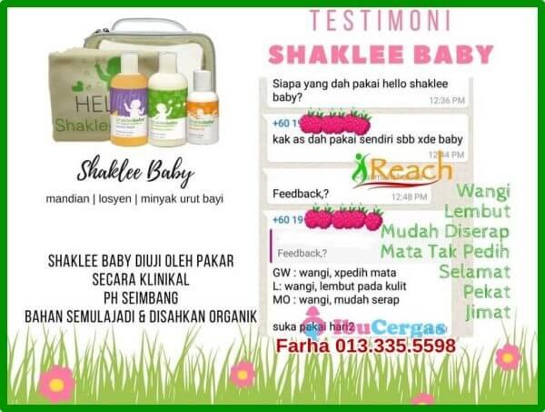 Testimoni Produk ShakleeBaby | Shaklee Baby, Review dan Testimonial Mandian Organik Baby Shaklee ShakleeBaby