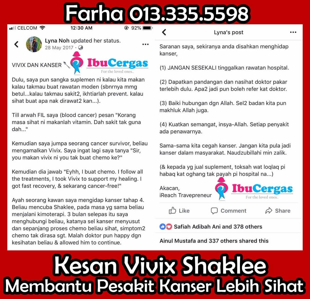 Testimoni Vivix Untuk Kanser - Kebaikan Vivix Untuk Kanser 6-vert