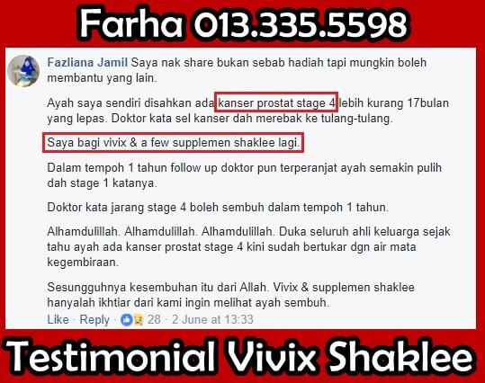 Vivix Shaklee Testimoni Kanser, Testimoni Vivix Shaklee Untuk Kanser - Kanser Ovari - Rawatan Alternatif Untuk Kanser Prostat